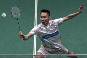 Lee Chong Wei is seeking a record 12th Malaysian Open title on Sunday.