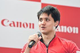 Schooling is Canon's brand ambassador
