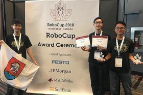 Nanyang JC students take first place in global RoboCup competition