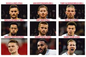 Tottenham provided a total of nine players for three World Cup semi-finalists - France, England and Belgium.