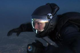 Tom Cruise as Ethan Hunt on his Halo jump.