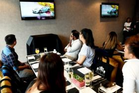 The media had a preview of the revamped Sky Suite for this year's Singapore Airlines Singapore Grand Prix, which sports improvements such as higher ceilings and customisable interiors and menus.