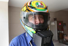 Chill out with mini-air cooling unit for helmet