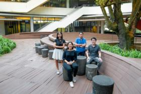 (From left to right) Ms Monalisa Khun, Ms Ginelle Galang Fabros, Mr Carl Gerard Cuyos, and Mr Kum Wei Chuen are participants in the Singapore Innovation Programme, organised by social enterprise Singapore Young Sustainable Impact South-east Asia (YSI SEA).
