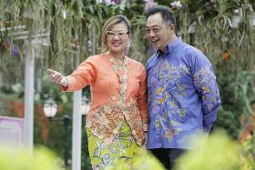 Peranakans celebrate National Day at Orchid Extravaganza