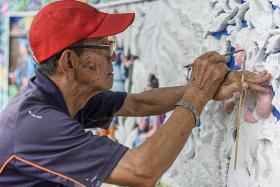 He spent more than 70 years tending to Har Par Villa sculptures