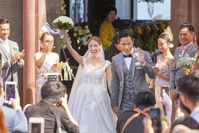 HK stars Grace Chan and Kevin Cheng marry in Bali