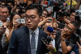 HK independence activist attacks China in speech at press club