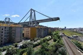 Former goalkeeper survives fall from collapsed Genoa bridge