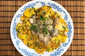 Hed Chef: Oyster omelette