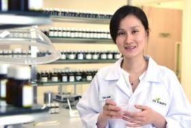 Cai Lixin creates and develops flavours for use in food and beverage products on the job.