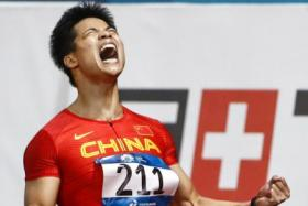 Su Bingtian is a superstar in China, although he has some way to emulating pin-up boy Liu Xiang who won the 110m hurdles at the 2004 Athens Olympics.