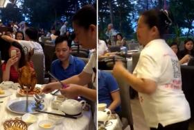 Waitress in 'chicken dance' viral video says she did it voluntarily