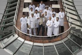 Most Michelin-starred chef opens floating restaurant on the Seine