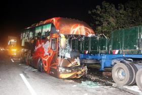 Three killed, 14 hurt in Malaysia highway crash