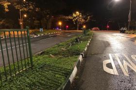 Suspected drunken Merc driver crashes after 5km car chase
