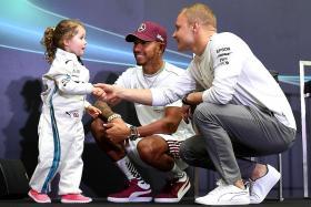 Leila, 3, gets inside scoop on Hamilton and Bottas' likes
