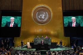 Trump blasts Iran in UN speech
