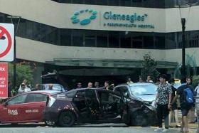 One dead, one taken to NUH after four-cab accident outside Gleneagles