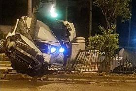Passenger dies in car crash, driver taken to hospital then arrested
