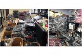 More than 4,800 pieces of counterfeit bags, wallets and watches were seized from a company in Woodlands Industrial Park and the suspect's home.