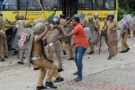 Protesters attack women at Sabarimala temple in Kerala