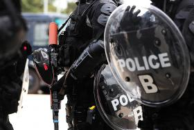 Police Tactical Unit is always ready to maintain public order