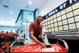 Former national sprinter C. Kunalan honoured with hand and foot casts