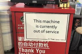 Majority of self-pay machines at Ci Yuan Hawker Centre faulty