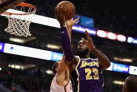 Monkey off Lakers and James' backs