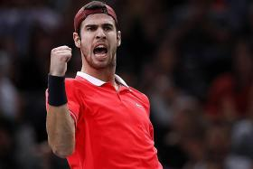 Djokovic stunned by Russia's Khachanov