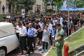 Hundreds turn up for military send-off for late NSF