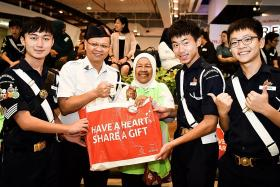 Go cashless when contributing to Share-A-Gift project