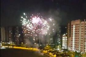 At least three cases of illegal fireworks across Singapore on Tuesday