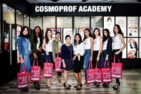 Conquering make-up at Cosmoprof