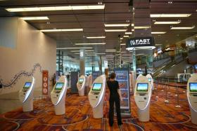 The increase at T1 comes mainly from the addition of more self-service check-in kiosks and bag-drop machines.