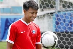 FFA U-16's Ryaan Sanizal is eyeing a spot with the Lions next year.