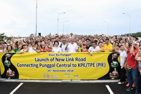 New road linking Punggol to KPE, TPE opens ahead of schedule