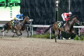 Wecando scoring by two lengths at his second Kranji start on April 13.