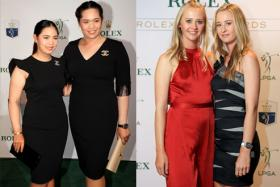 From left: Two sister pairs - Moriya and Ariya Jutanugarn, and Nelly and Jessica Korda - will be in Singapore for 2019 HSBC Women's World Championship.