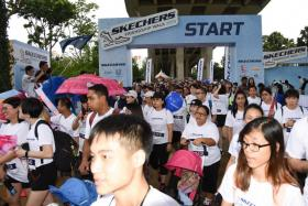 Participants setting off on the Skechers Friendship Walk on Dec 1 (Sat).