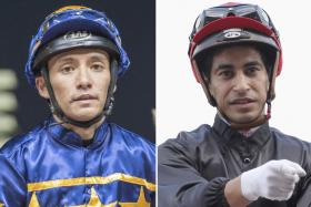 Troy See (left) ended up not winning any race in Mauritius while Nooresh Juglall (right) booted home a third winner before his home crowd on Sunday.