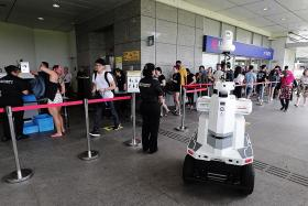 Robots may soon guard MRT stations, bus interchanges
