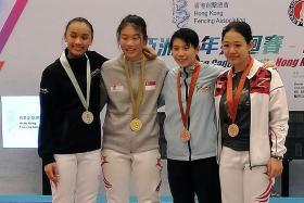 S'pore teen Denyse wins women's foil title in HK