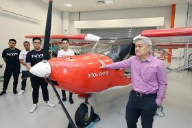 NYP students build fully functioning plane