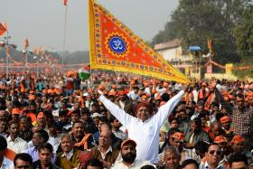 Hindu activists gather in Delhi urging govt to build temple in Ayodhya