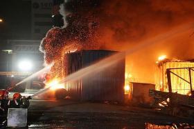 90 firefighters put out blaze at Sungei Kadut furniture warehouse