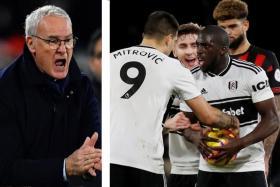 Fulham manager Claudio Ranieri (left) is livid with striker Aboubakar Kamara for snatching the ball from penalty-taker Aleksandar Mitrovic. Kamara missed the spot-kick.