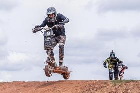 Going offroad racing on e-scooters