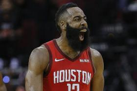 Rockets fired up by Harden's third straight 40-point game